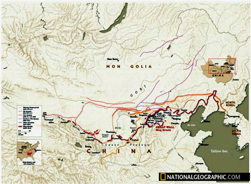 How long is the great wall map of china great wall made by nationalgeographic gumiabroncs Image collections