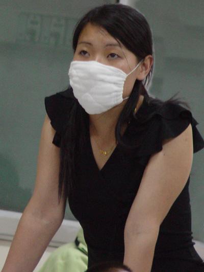 卡通女生黑色口罩