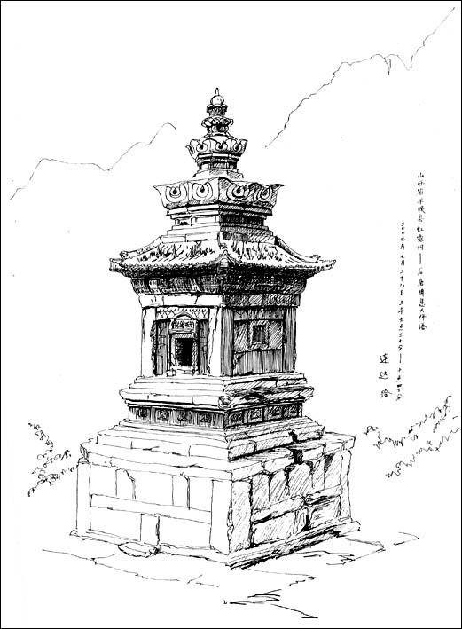 素描长城简笔画